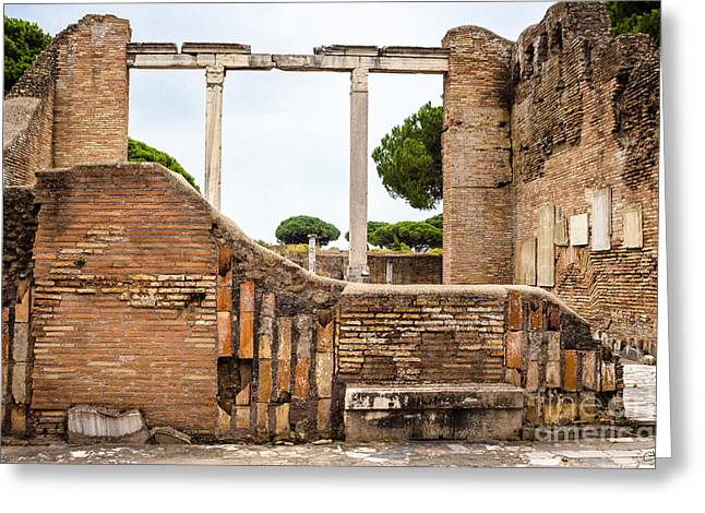 Ruins Of Ostia Antica Greeting Card