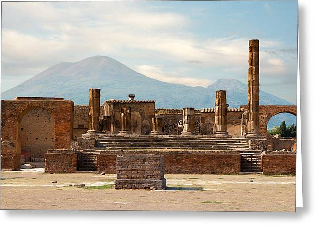 Ruins Of Pompeii Greeting Card by Gurgen Bakhshetsyan
