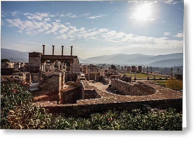 Ruins Of Saint John S Basilica Greeting Card