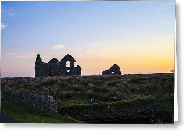 Ruins Of The Hunting Lodge At Lough Easkie Greeting Card