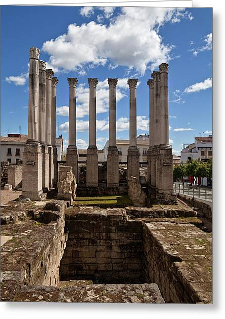 Ruins Of The Roman Temple In Cordoba Greeting Card by Panoramic Images