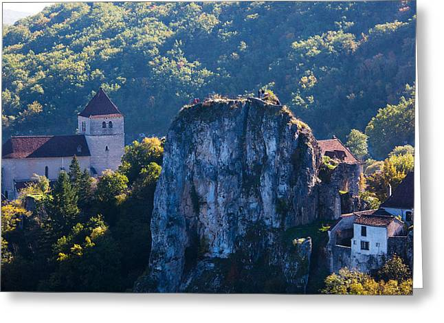 Ruins Of The Town Chateau Greeting Card by Panoramic Images