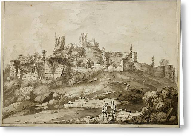 Ruins Of Wigmore Castle Greeting Card by British Library
