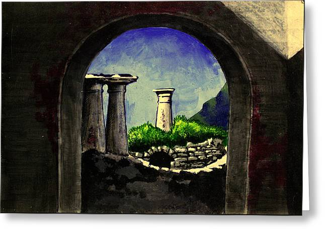 Ruins Greeting Card by Salman Ravish