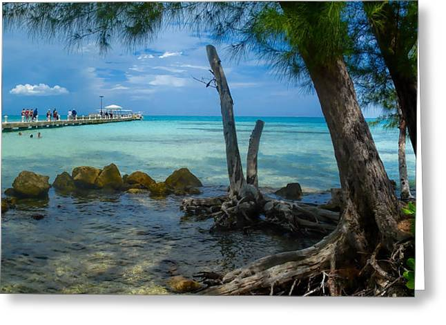 Rum Point Pier Greeting Card