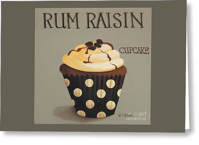Rum Raisin Cupcake Greeting Card by Catherine Holman
