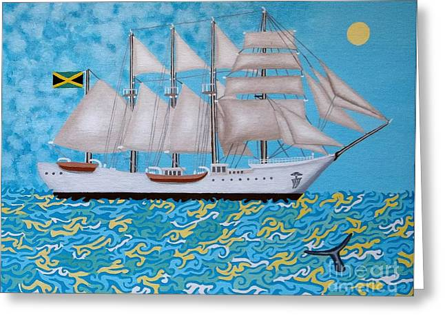 Rum Runner Greeting Card by Anthony Morris