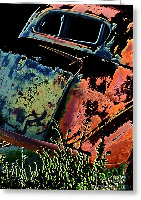 Rumble Seat Greeting Card by Barbara D Richards