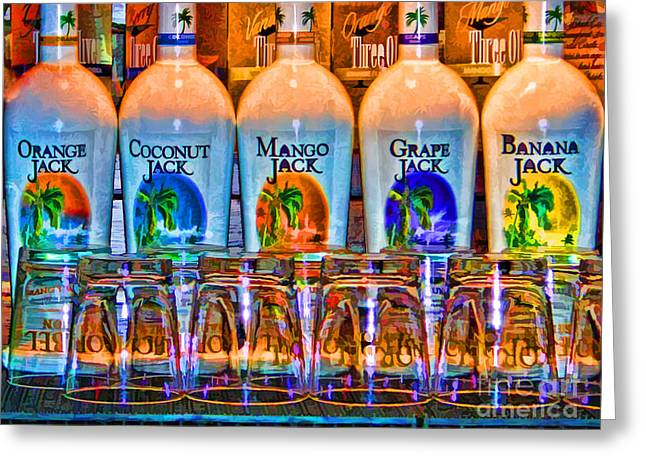 Greeting Card featuring the photograph Rums by Clare VanderVeen