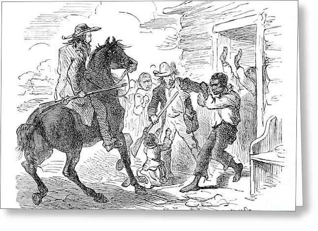 Runaway Captured, Fugitive Slave Law Greeting Card