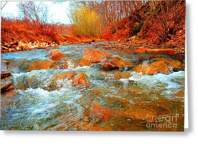 Running Creek 2 By Christopher Shellhammer Greeting Card