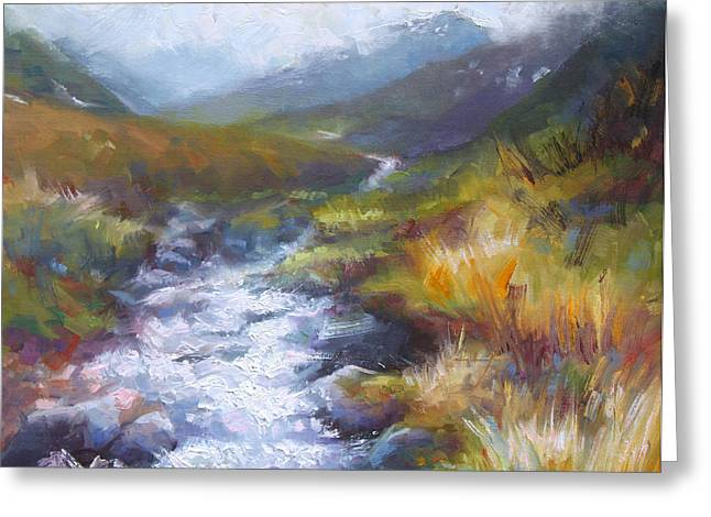 Running Down - Landscape View From Hatcher Pass Greeting Card by Talya Johnson