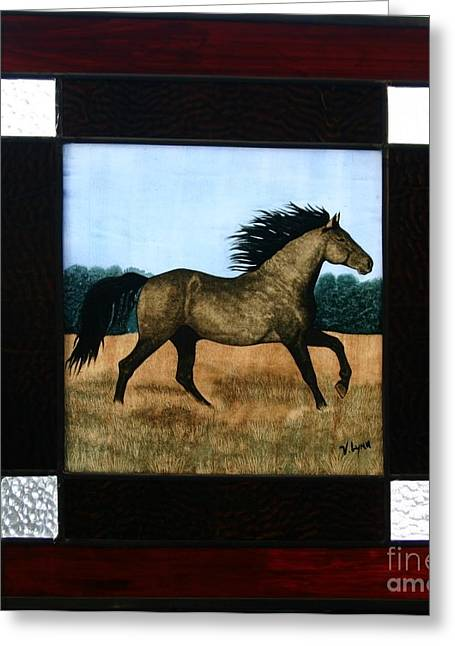 Running Free Greeting Card by Valerie Lynn