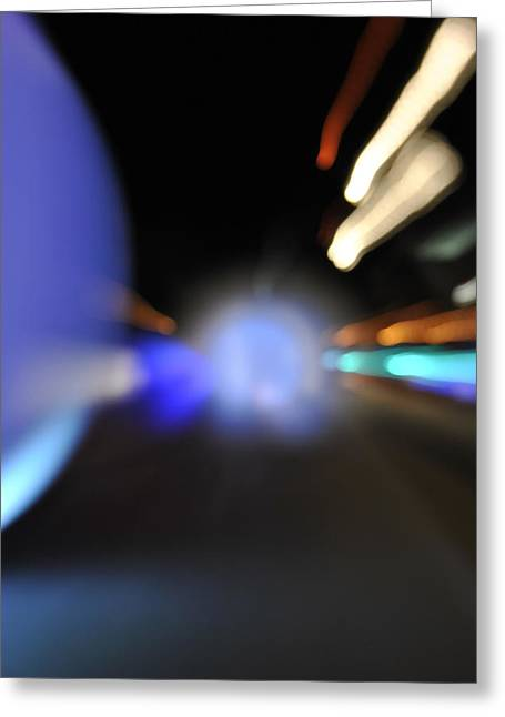 Running Lights Greeting Card by Frederico Borges