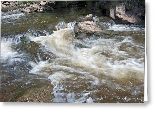 Greeting Card featuring the photograph Running River by Marek Poplawski