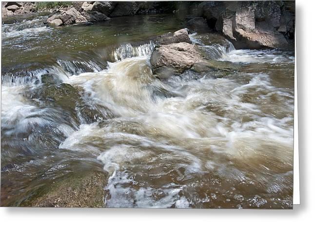 Running River Greeting Card by Marek Poplawski