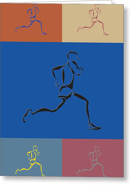 Running Runner2 Greeting Card by Joe Hamilton
