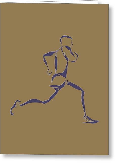 Running Runner8 Greeting Card by Joe Hamilton
