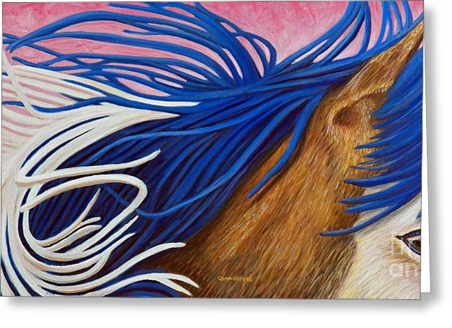 Running Thunder Greeting Card by Brian  Commerford
