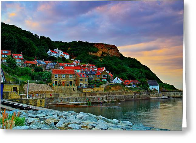 Runswick Bay England Greeting Card