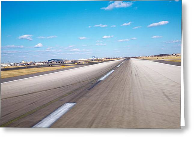 Runway At An Airport, Philadelphia Greeting Card by Panoramic Images