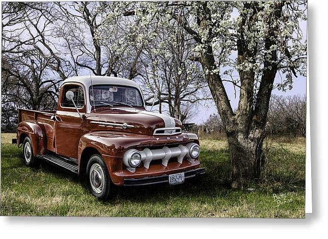 Rural 1952 Ford Pickup Greeting Card