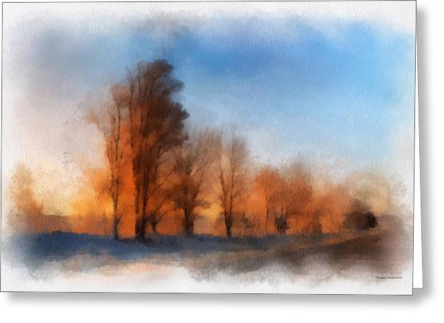 Rural Country Road Sunrise Photo Art 02 Greeting Card by Thomas Woolworth