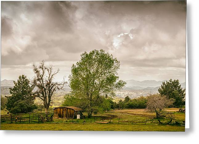 Rural East County Greeting Card by Joseph Smith