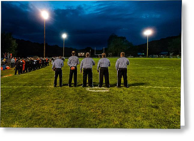 Rural Friday Night Lights Greeting Card by Michael Weaver