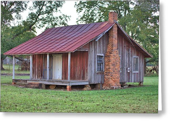 Greeting Card featuring the photograph Rural Georgia Cabin by Gordon Elwell
