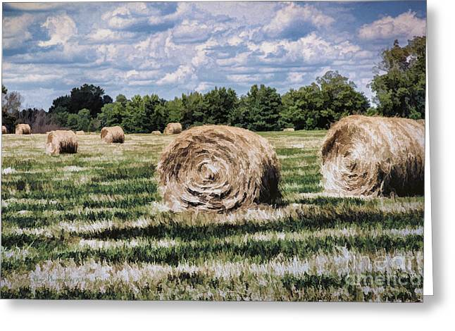 Greeting Card featuring the painting Rural Georgia by Linda Blair