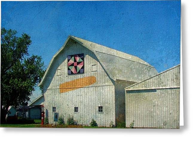 Rural Iowa Barn Greeting Card by Cassie Peters