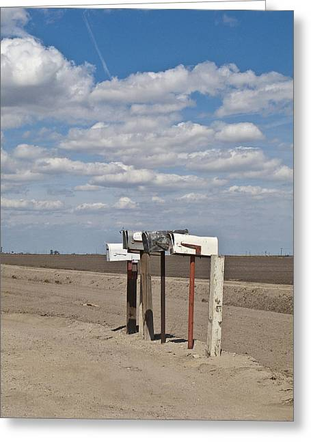 Rural Mailboxes Greeting Card by David Litschel