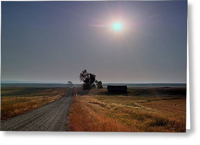 Rural Montana Sunrise Greeting Card by Leland D Howard