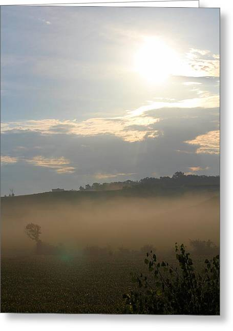 Rural Morning Greeting Card by Angie Phillips
