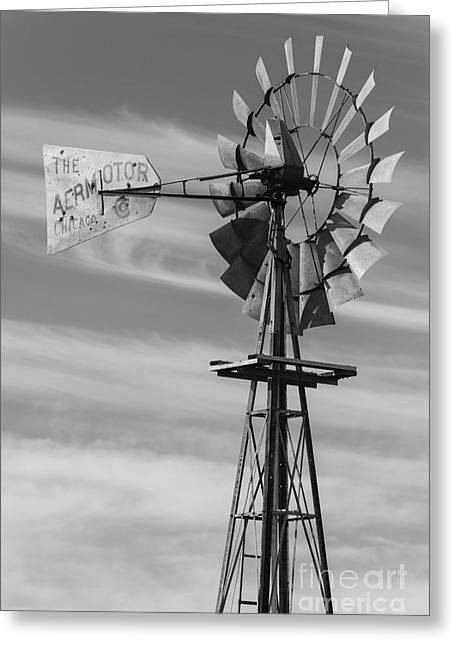 Rural Nebraska Windmill Greeting Card