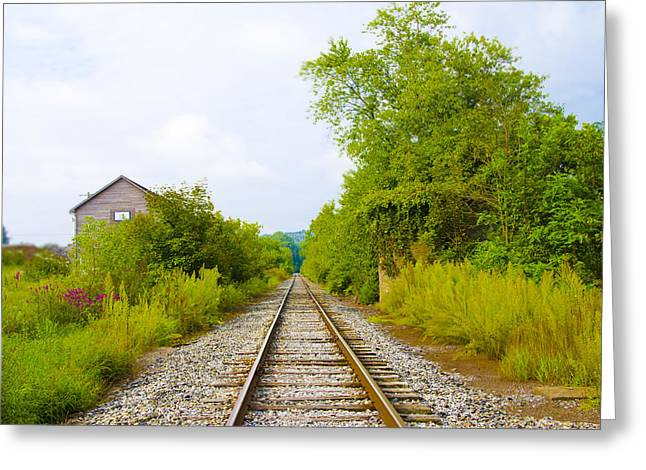 Rural Pa Train Tracks Greeting Card by Bill Cannon