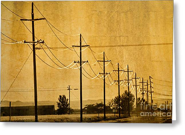 Rural Power Lines Greeting Card by Matt  Trimble