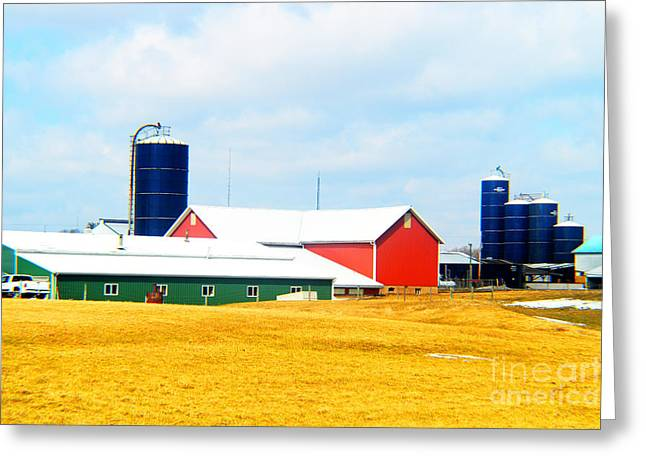 Rural Primary Colors Greeting Card by Tina M Wenger