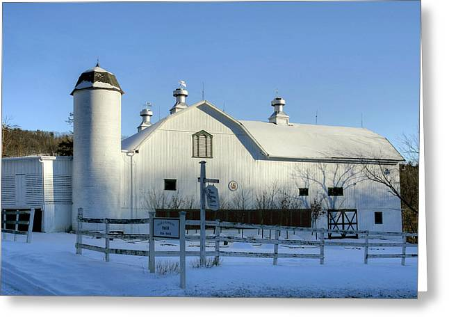 Rural Winter Whites And Blues Greeting Card by Gene Walls
