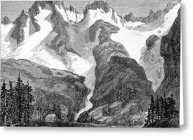 Rush Creek Glacier Greeting Card by Universal History Archive/uig