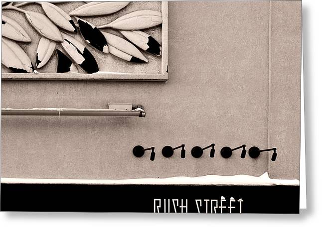 Greeting Card featuring the photograph Rush Street by James Howe
