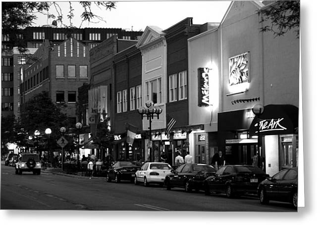 Rush Street Greeting Card by Pat Cook