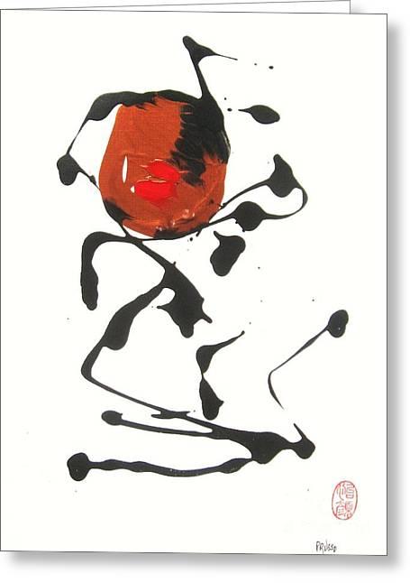 Greeting Card featuring the painting Rushiasurubi No Kuchibiru by Roberto Prusso