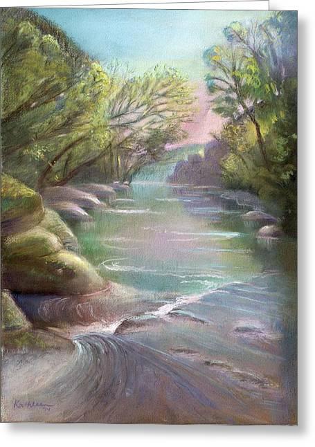 Rushing Creek Gatlinburg Tennessee Greeting Card by Kathleen Bonadonna