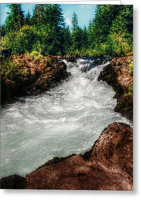 Rushing Rogue Gorge Greeting Card by Melanie Lankford Photography