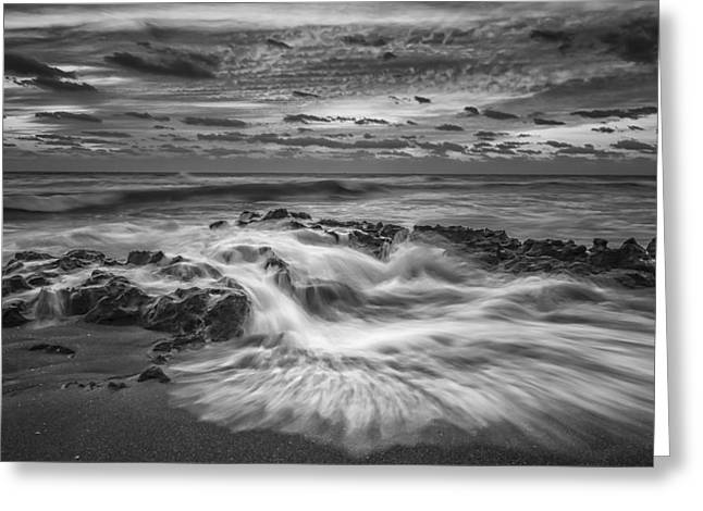 Rushing Tide Greeting Card by Mike Lang