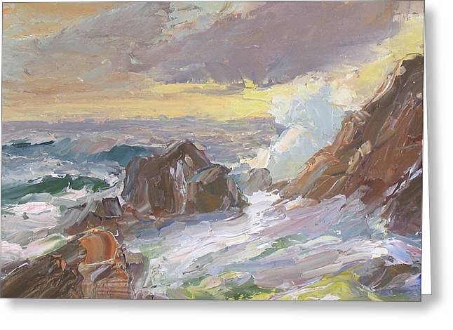 Rushing Tide Greeting Card by Patricia Seitz