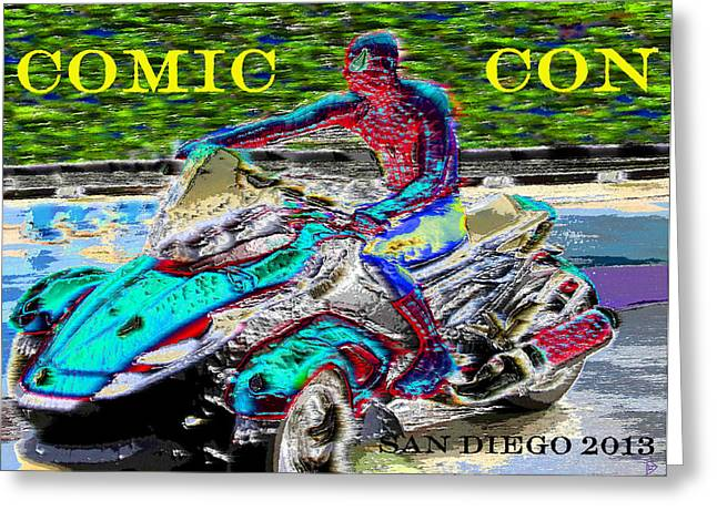 Rushing To Comic Con Greeting Card by David Lee Thompson