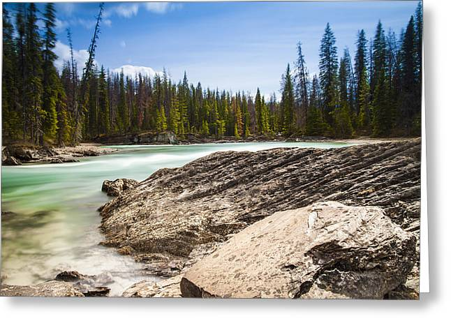 Rushing Water Greeting Card by Chris Halford